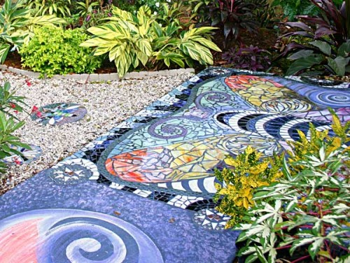 Siobhan s magical garden transformations the garden fairies - Basics mosaic tiles patios ...