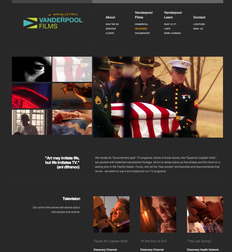 Vanderpool Films Web Site